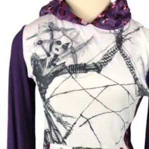 NUVULA Anthro graphic long sleeve hoodie